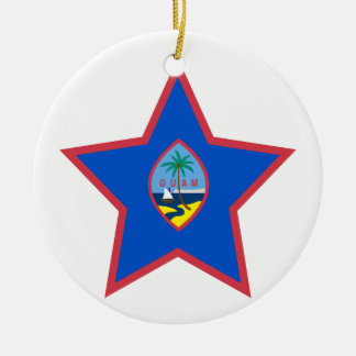 Guam Star Ceramic Ornament