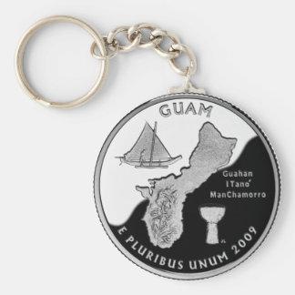Guam state quarter keychain