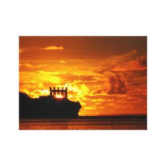 Guam sunsets canvas print
