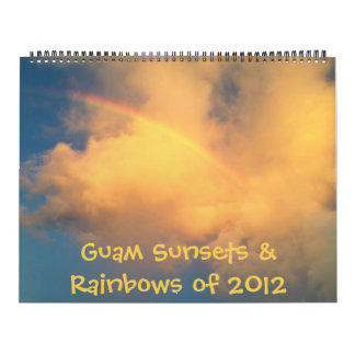Guam Sunsets & Rainbows of 2012 (2013 calendar) Calendar