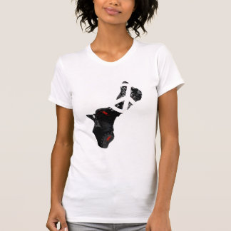 Guam Trendy Peace Sign with Guamanian map Tshirt