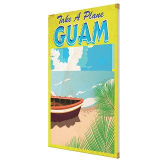 Guam Vintage Travel Poster Canvas Print