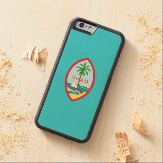 Guamanian  coat of arms carved® maple iPhone 6 bumper case