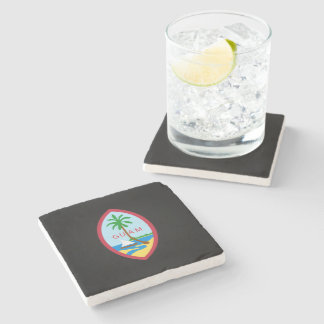 Guamanian  coat of arms stone coaster