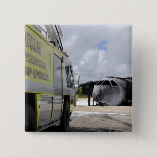 Guam's WONPAT Airport Pinback Button