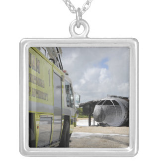 Guam's WONPAT Airport Silver Plated Necklace