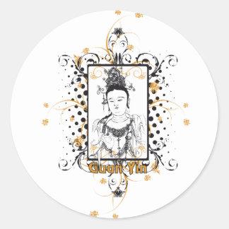 Guan Yin Bodhisattva Round Sticker