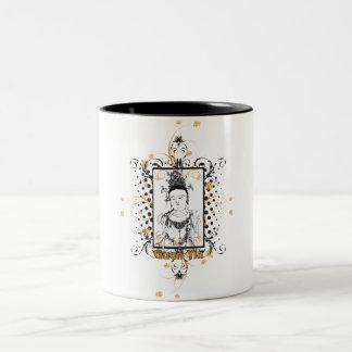 Guan Yin Bodhisattva Two-Tone Coffee Mug