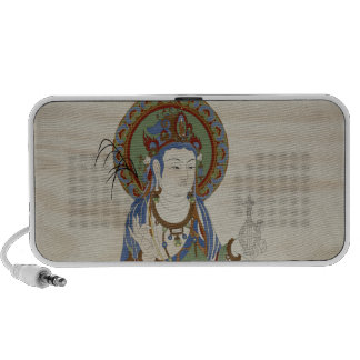 Guan Yin Buddha Doddle Speaker Doug Fir Background