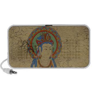 Guan Yin Buddha Doodle Speaker Crackle Backgr