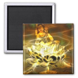 Guan Yin Energy 2 Inch Square Magnet