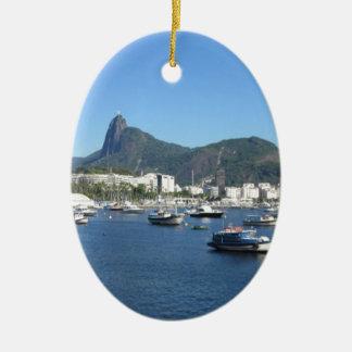 Guanabara Bay in Rio de Janeiro Ceramic Ornament