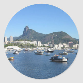 Guanabara Bay in Rio de Janeiro Classic Round Sticker