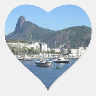 Guanabara Bay in Rio de Janeiro Heart Sticker
