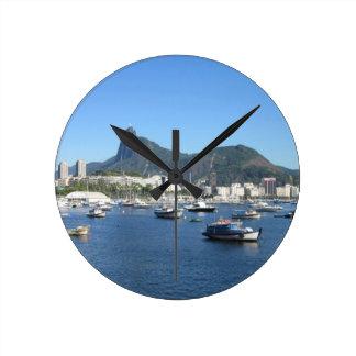 Guanabara Bay in Rio de Janeiro Round Clock