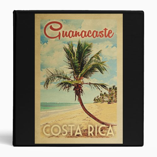 Guanacaste Palm Tree Vintage Travel 3 Ring Binder
