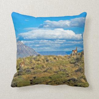 Guanaco Country, Patagonia Throw Pillow