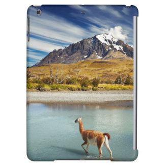 Guanaco crossing the river in Torres del Paine Case For iPad Air