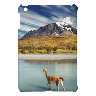 Guanaco crossing the river in Torres del Paine Case For The iPad Mini