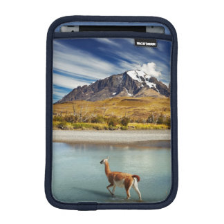 Guanaco crossing the river in Torres del Paine iPad Mini Sleeve