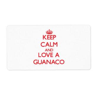 Guanaco Shipping Label