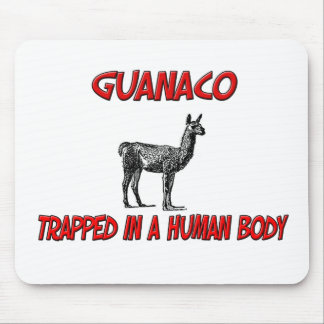 Guanaco trapped in a human body mouse pads