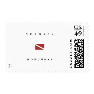 Guanaja Honduras Scuba Dive Flag Stamps