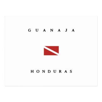 Guanaja Honduras Scuba Dive Flag Postcard