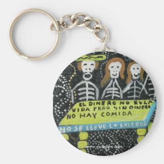 Guanajuato folk art, Día de los Muertos Basic Round Button Keychain