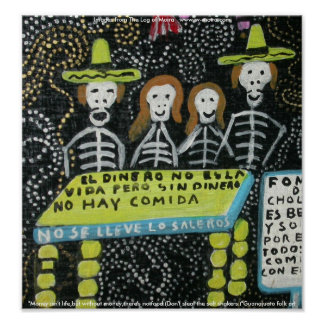 Guanajuato folk art, Día de los Muertos Poster