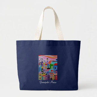 Guanajuato Mexico Abstract Painting Canvas Bags