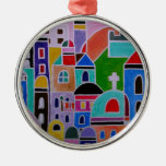 Guanajuato Mexico Abstract Painting Metal Ornament