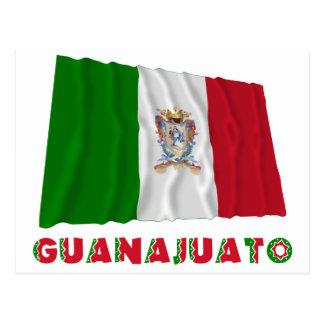 Guanajuato que agita la bandera oficiosa postales