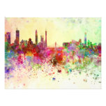 Guangzhou skyline in watercolor background fotografías