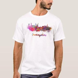 Guangzhou skyline in watercolor T-Shirt