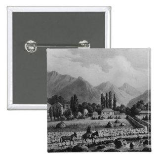 """Guanta, de """"Historia de Chile"""", 1854 Pin Cuadrado"""