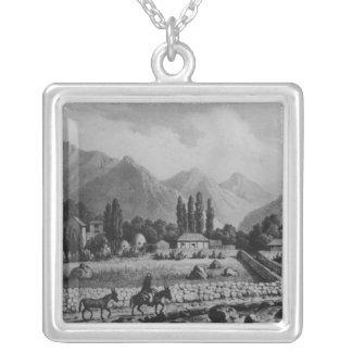 Guanta , from 'Historia de Chile', 1854 Square Pendant Necklace