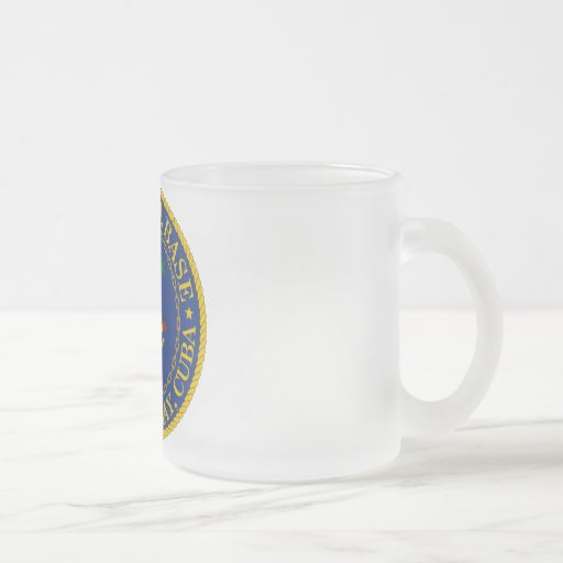 Guantanamo Bay, Cuba Frosted Glass Coffee Mug