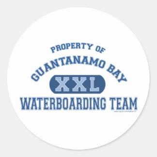 Guantanamo Bay Waterboarding Team Classic Round Sticker