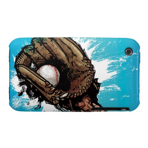 Guante de béisbol con la bola baja carcasa para iPhone 3