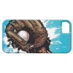 Guante de béisbol con la bola baja funda para iPhone SE/5/5s