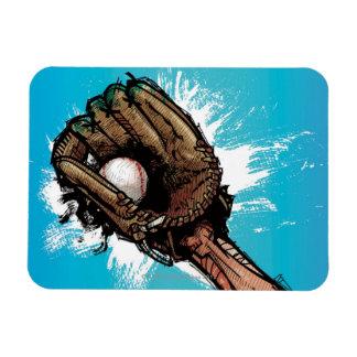 Guante de béisbol con la bola baja iman de vinilo