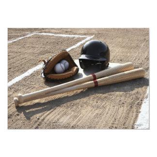 """Guante de béisbol invitación 5"""" x 7"""""""