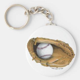 Guante de béisbol llavero redondo tipo pin
