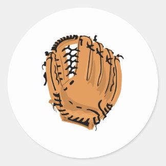 Guante de béisbol pegatina redonda