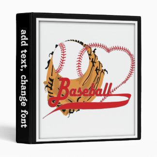 Guante de béisbol y corazón del béisbol