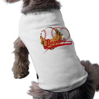 Guante de béisbol y corazón del béisbol camisetas de mascota