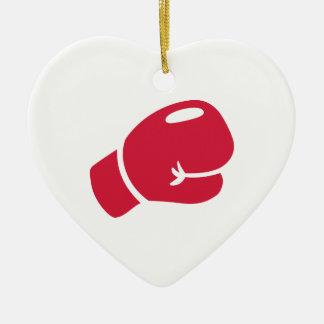 Guante de boxeo rojo ornamente de reyes