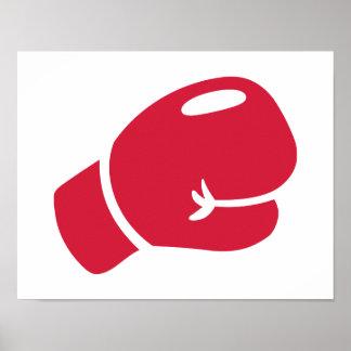 Guante de boxeo rojo impresiones