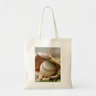 Guante y bola de béisbol bolsa tela barata